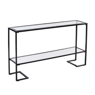 black lacquer sofa table slipcover for with chaise modern contemporary console tables allmodern