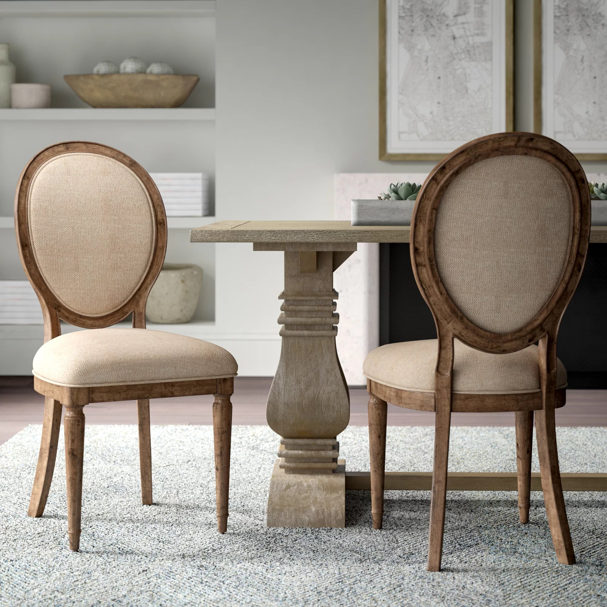 Upholstered Living Room Chairs Margie Upholstered Dining Chair