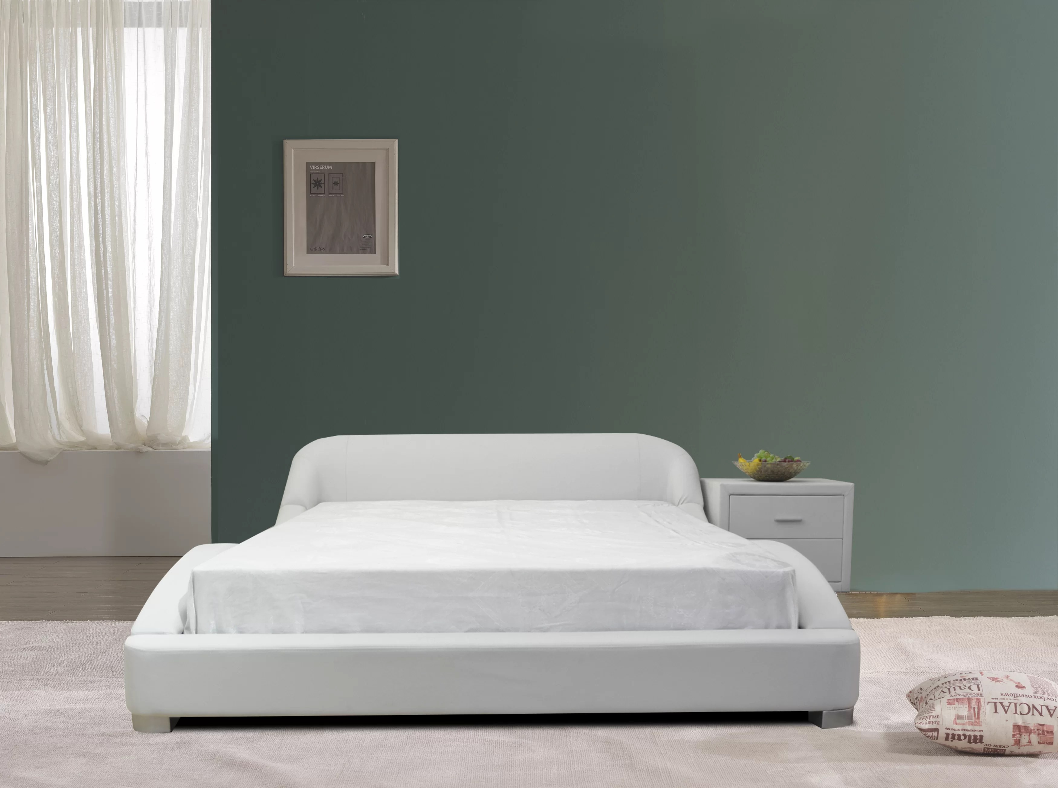 Brayden Studio B1216 2 Modern Platform Bed Queen White Wayfair Ca