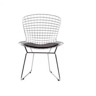 black wire chair modern white leather wayfair iseminger dining