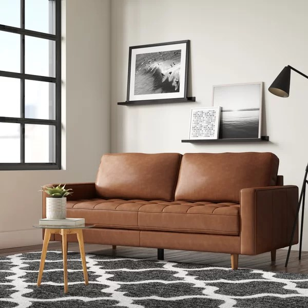 modern contemporary 4 seater leather sofa