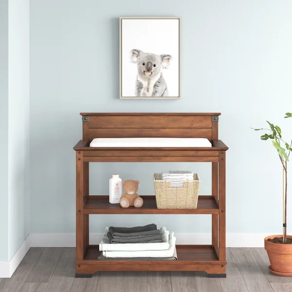 cherry wood changing table