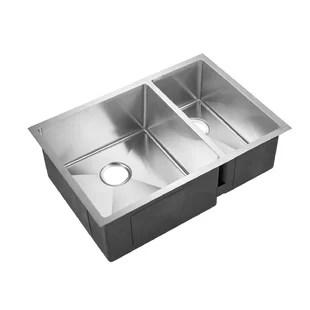 deep kitchen sink undermount sinks stainless steel 12 inch wayfair genaro 29 x 20 double basin