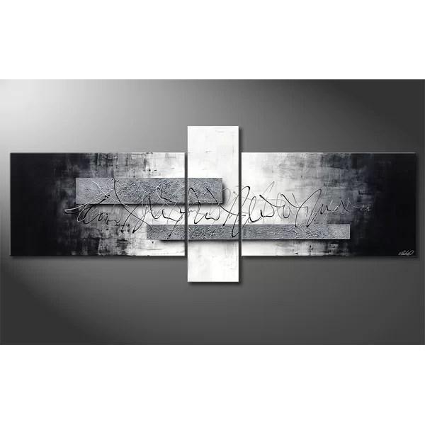 silver wall art wayfair
