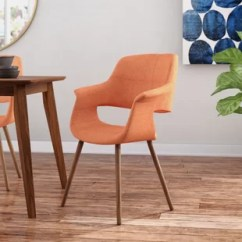 Orange Upholstered Chair Counter Height Dining Room Chairs Burnt Accent Wayfair Quickview