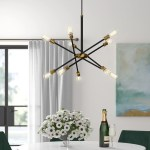 Clarcona 10 Light Unique Statement Modern Linear Chandelier Reviews Joss Main