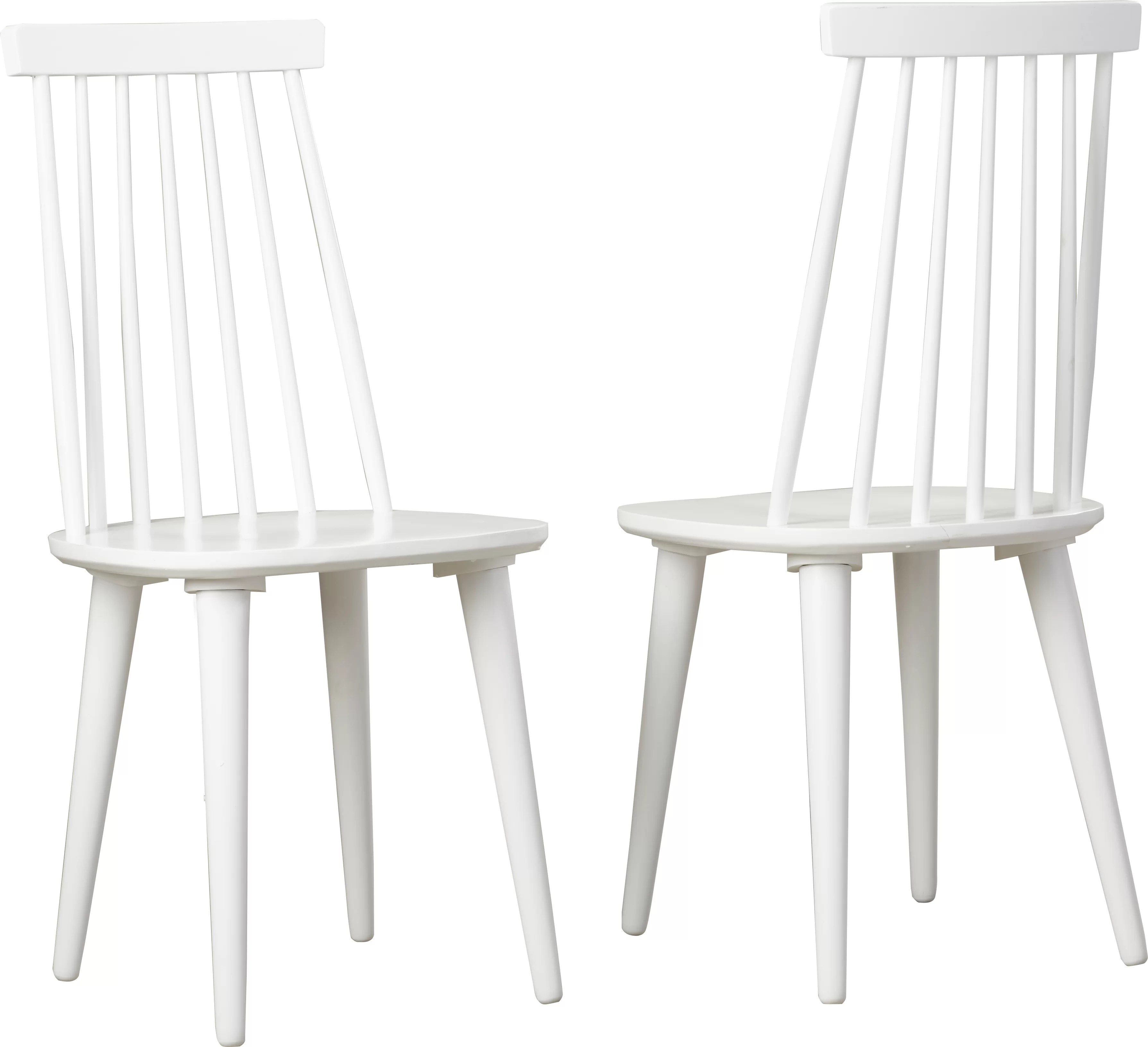 White Wooden Dining Chairs Britt Solid Wood Dining Chair
