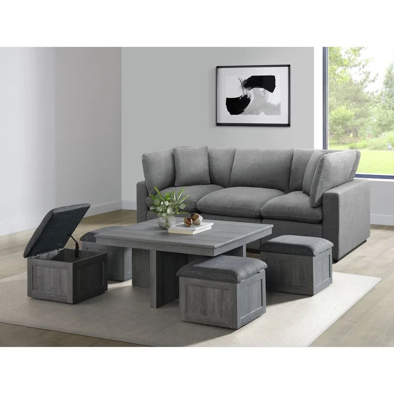 ohio lift top coffee table with storage
