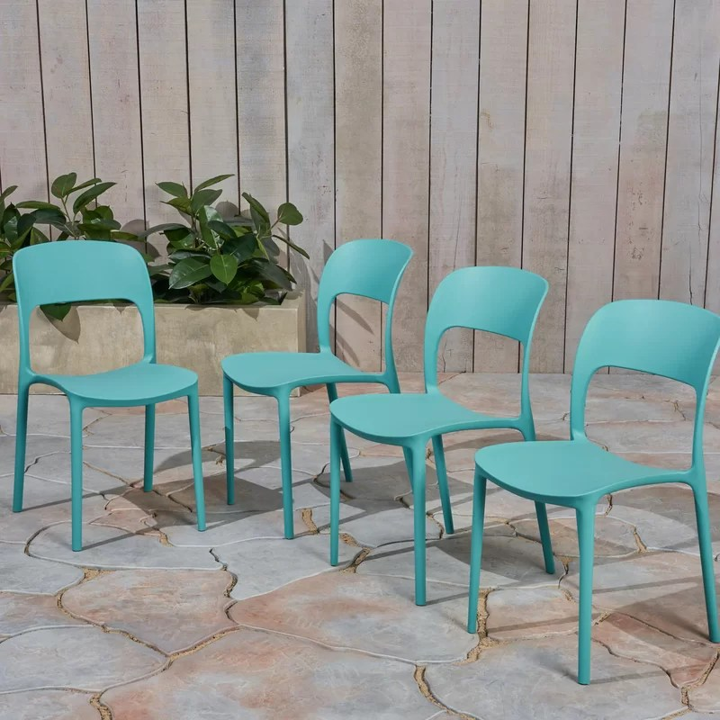 doerr stacking patio dining chair