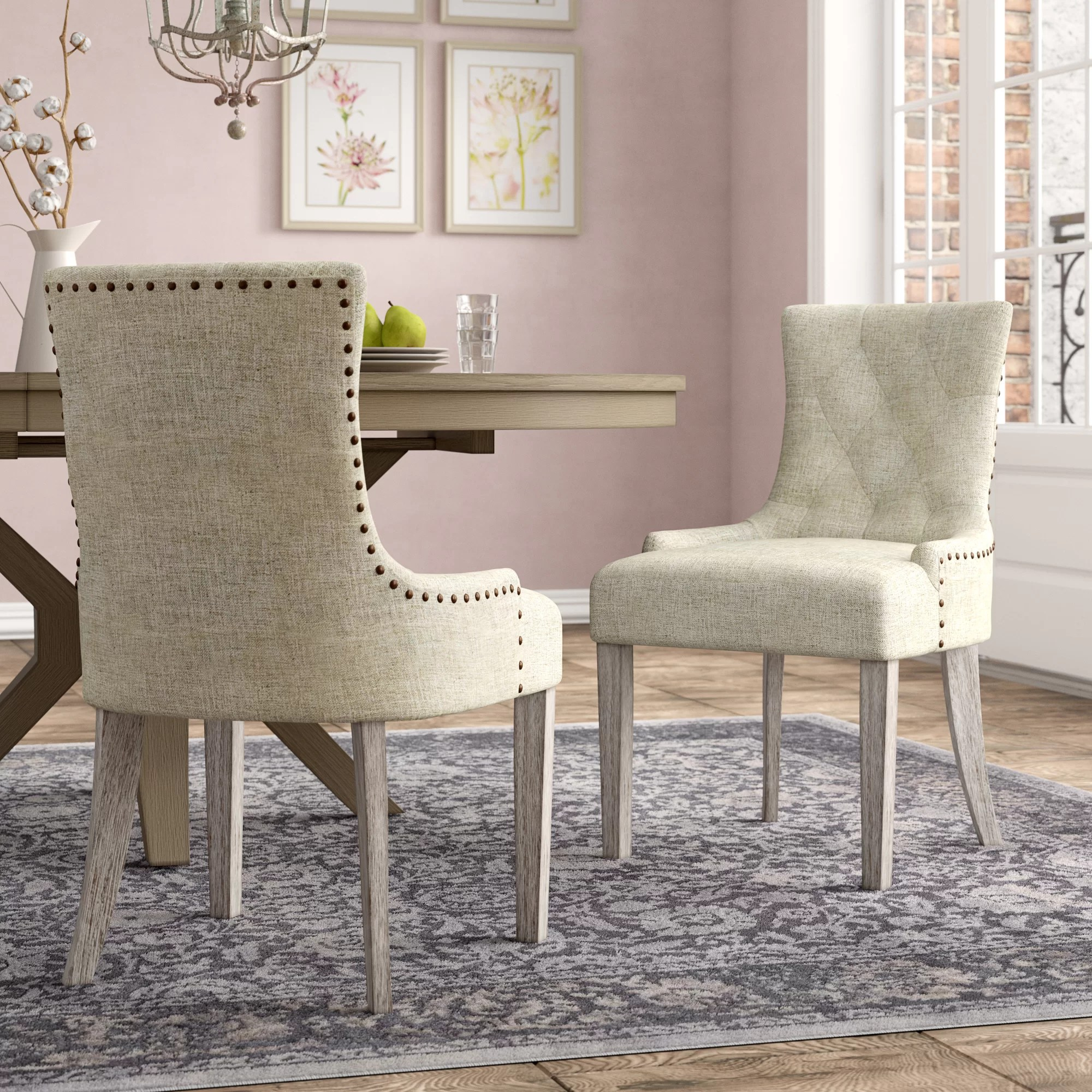 Upholstered Living Room Chairs Vicini Upholstered Dining Chair