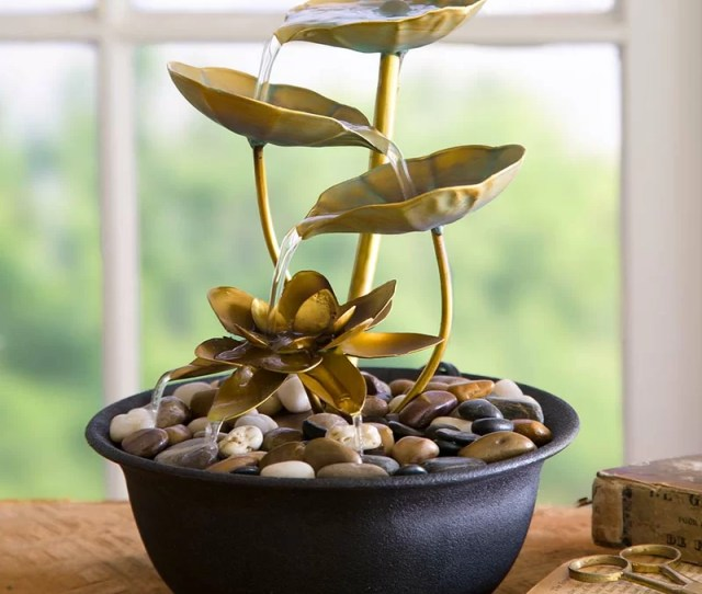 Water Lily Indoor Fountain