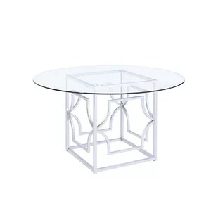 kitchen table base chandelier ideas glass only wayfair tomaso dining