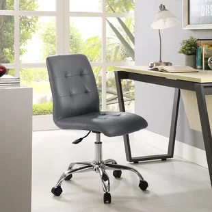 tufted desk chair toys for engineers gray chairs you ll love wayfair quickview