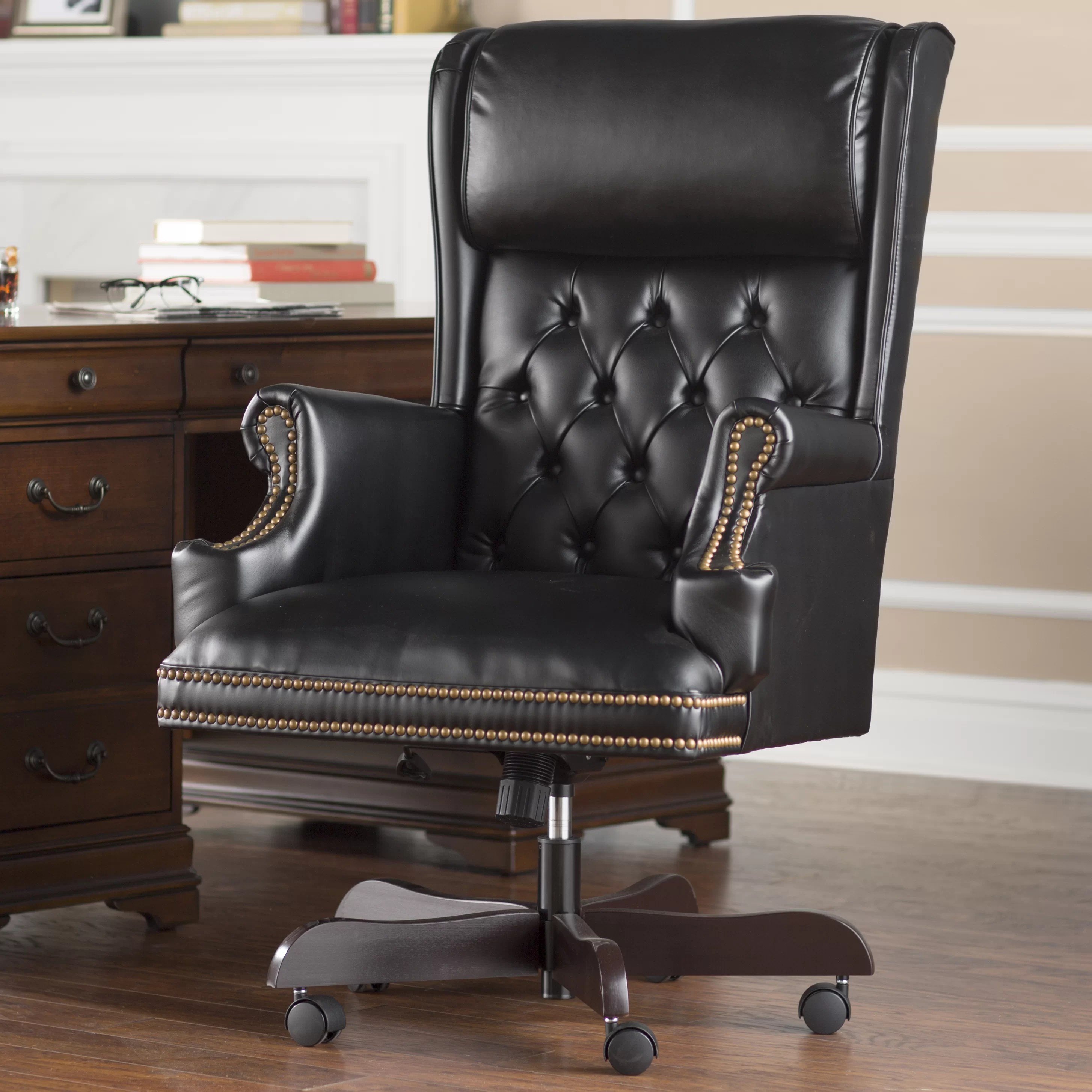 Tufted Leather Office Chair Brassie Leather Executive Chair