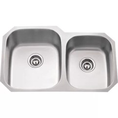 24 Inch Kitchen Sink Pink Countertops Stainless Steel Wayfair 32 L X 75 W Double Bowl 16 Gauge 60 40 Undermount