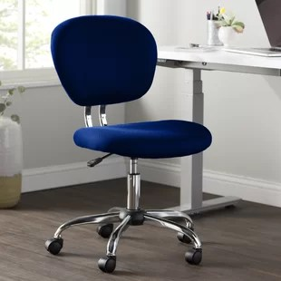 tufted desk chair best posture for standing navy blue wayfair quickview