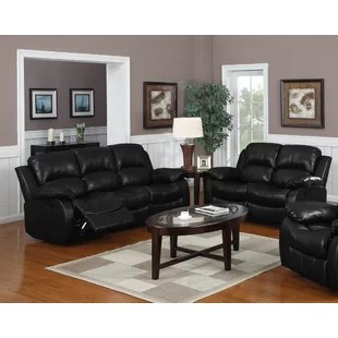 living rooms with black leather sofas room sectional design ideas sets you ll love wayfair quickview