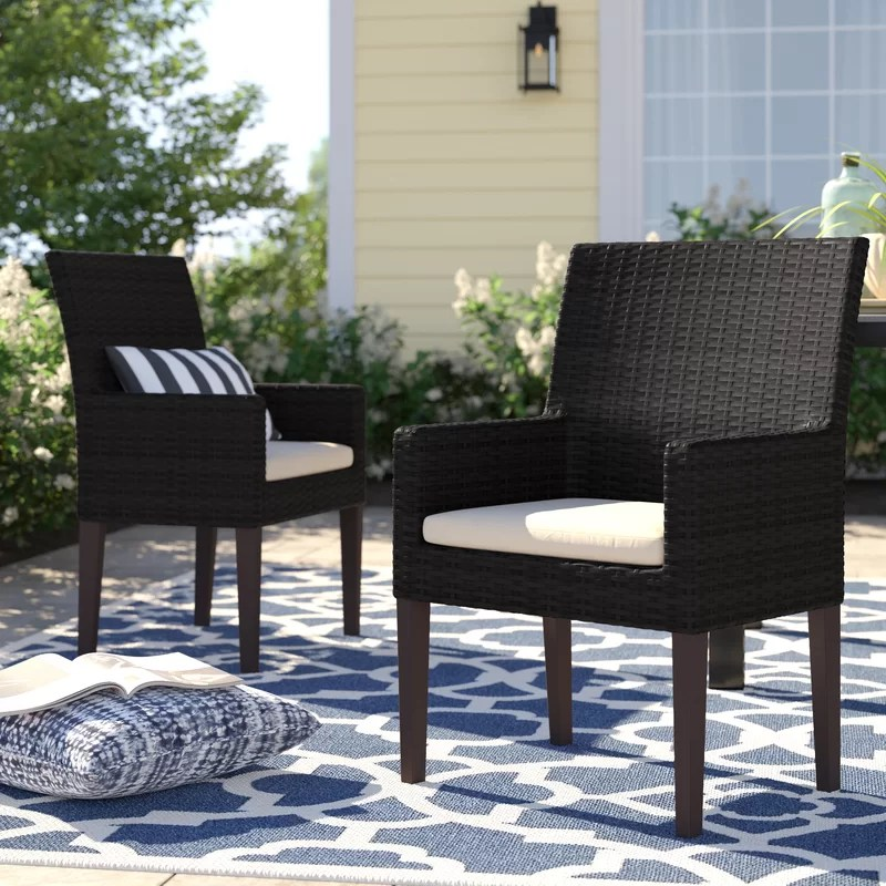 stratford patio dining chair with cushion