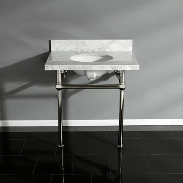 marble apothecary sink console