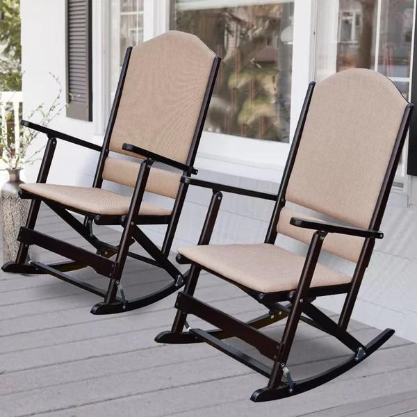 cedar creek solid wood folding rocking chairs