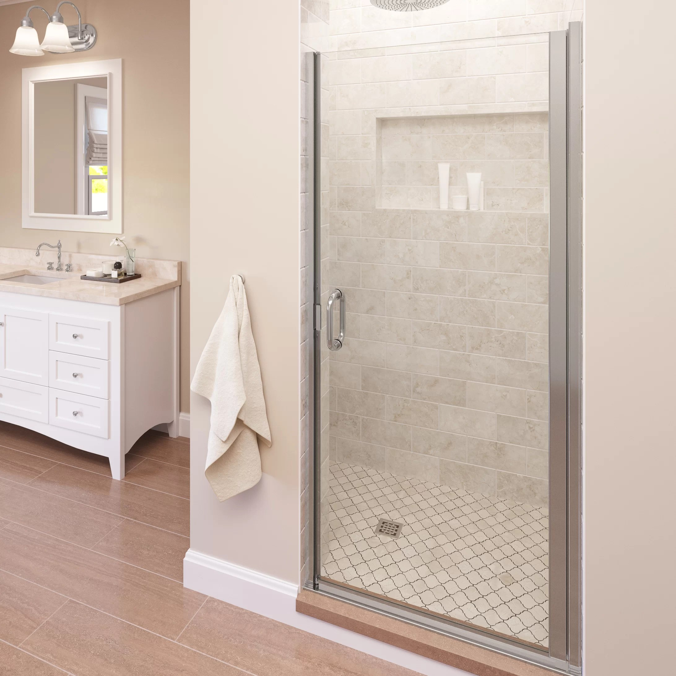 Infinity 28 X 76 Pivot Semi Frameless Shower Door