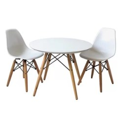 Round Table And Chairs Set Wooden Child Chair Toddler Kids Sets You Ll Love Wayfair Scoggins 3 Piece
