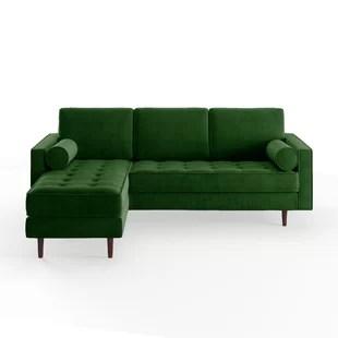 montreal sectional sofa in slate white wooden table modern sofas allmodern quickview