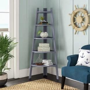 corner shelf for living room traditional rooms images 5 tier ladder wayfair foskey decorative frame unit bookcase