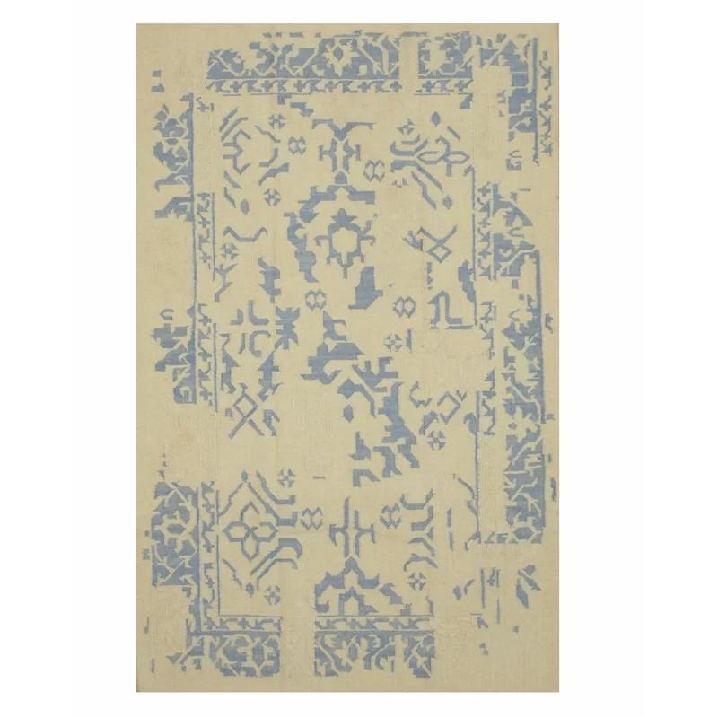 Handmade Ivory Area Rug Size: Rectangle 8 x 10