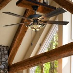 Wolland 52 Modern Led Crystal Ceiling Fan With Lights Low Profile Ceiling Fan 5 Wooden Blades Indoor Outdoor Use For Living Room Bedroom Dining Bar Restaurant Ceiling Fan Chandelier Chrome Tools