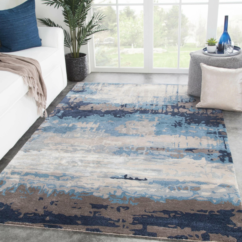 Fairmount Abstract Handmade Tufted Wool Blue Gray Beige Area Rug Reviews Joss Main