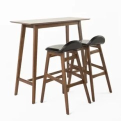 Bar Height Tables And Chairs Ikea Side Modern Pub Allmodern Adriana 3 Piece Table Set