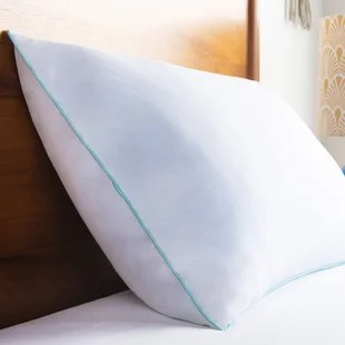 encased cooling shredded memory foam plush support pillow