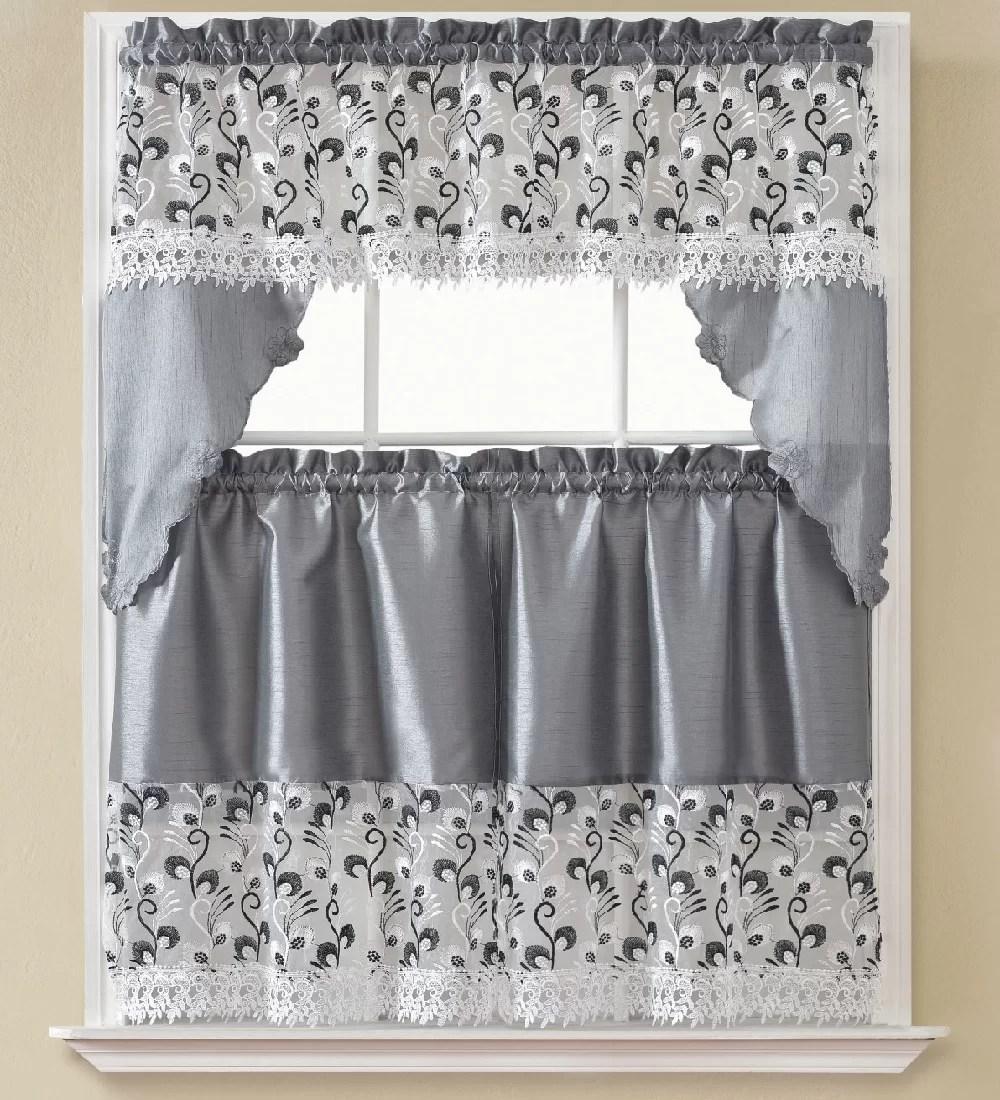 manningtree 3 piece kitchen curtain set