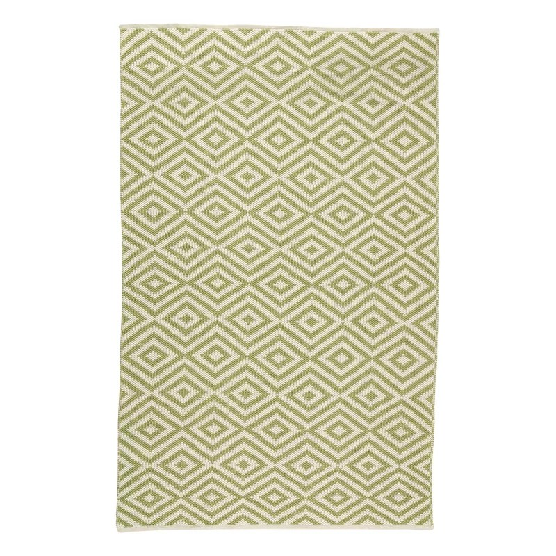 Aletha Hand-Knotted Green Area Rug Rug Size: Rectangle 76 x 96