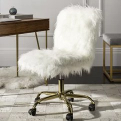 Fluffy Desk Chair Bottom Pads Faux Fur Chairs You Ll Love Wayfair Quickview
