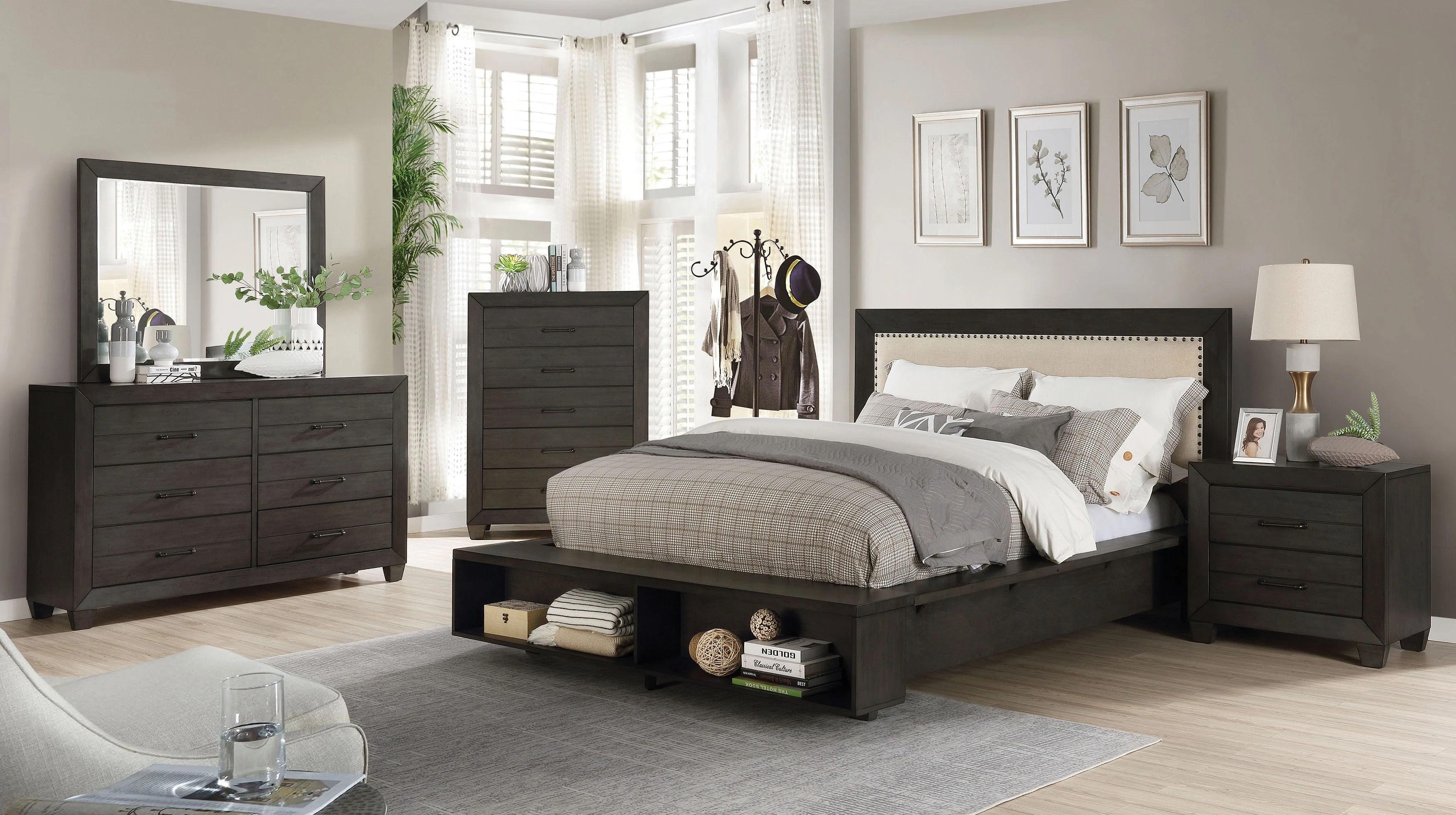 dussault storage platform configurable bedroom set