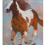 Trademark Art Painted Horse 2 Acrylic Painting Print On Wrapped Canvas