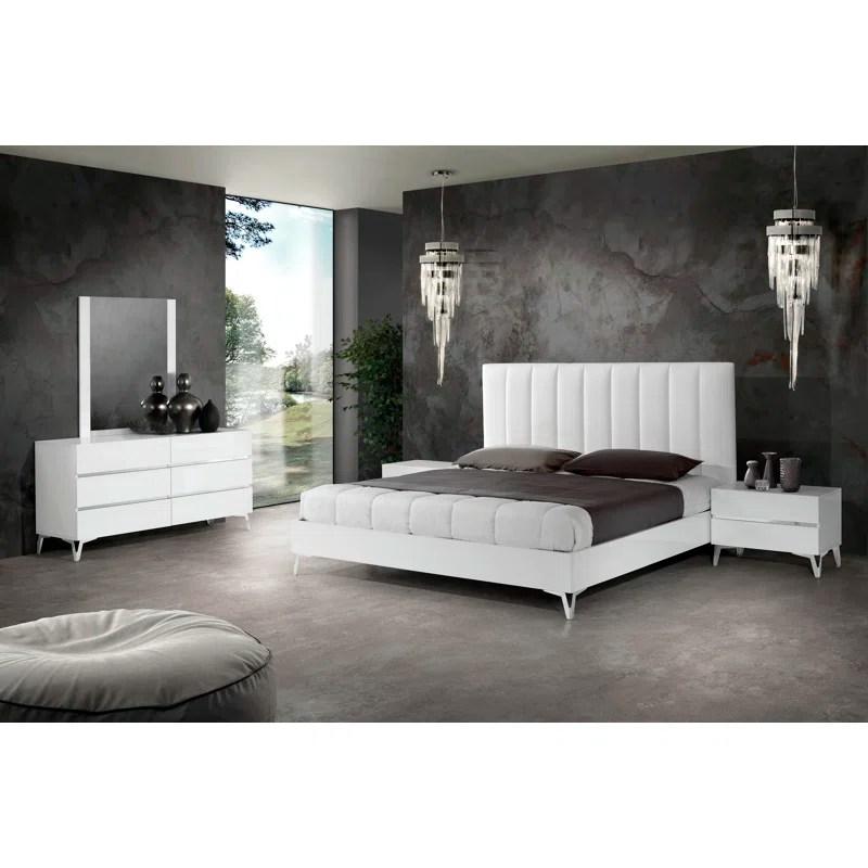 kayna italian platform 5 piece bedroom set