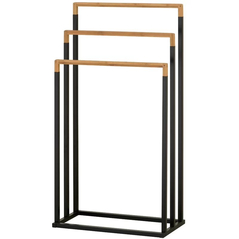 metal free standing towel rack