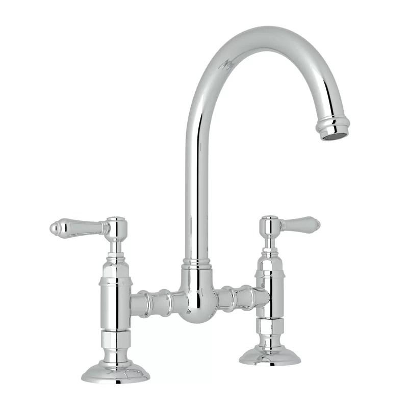san julio bridge single handle kitchen faucet