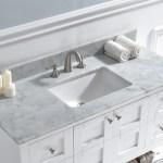 Woodbridge 48 Single Bathroom Vanity Top In Carra White With Sink Reviews