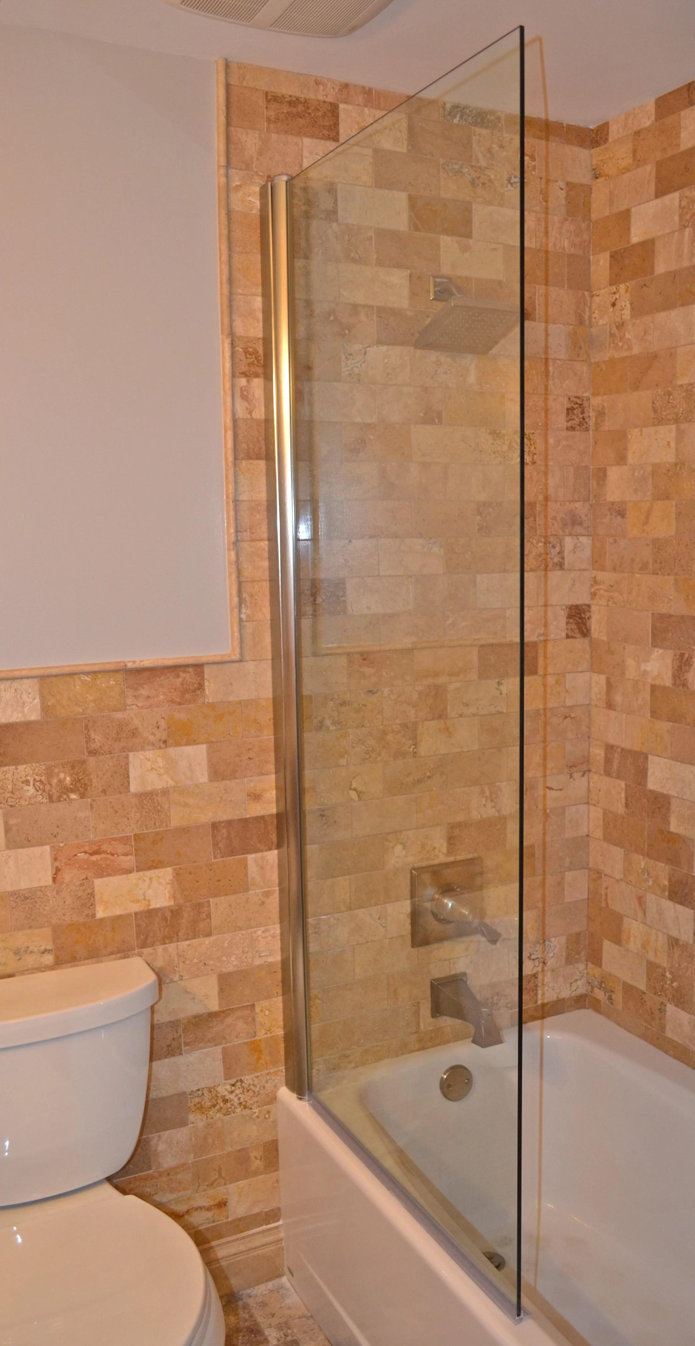 33 5 x 70 pivot frameless tub door