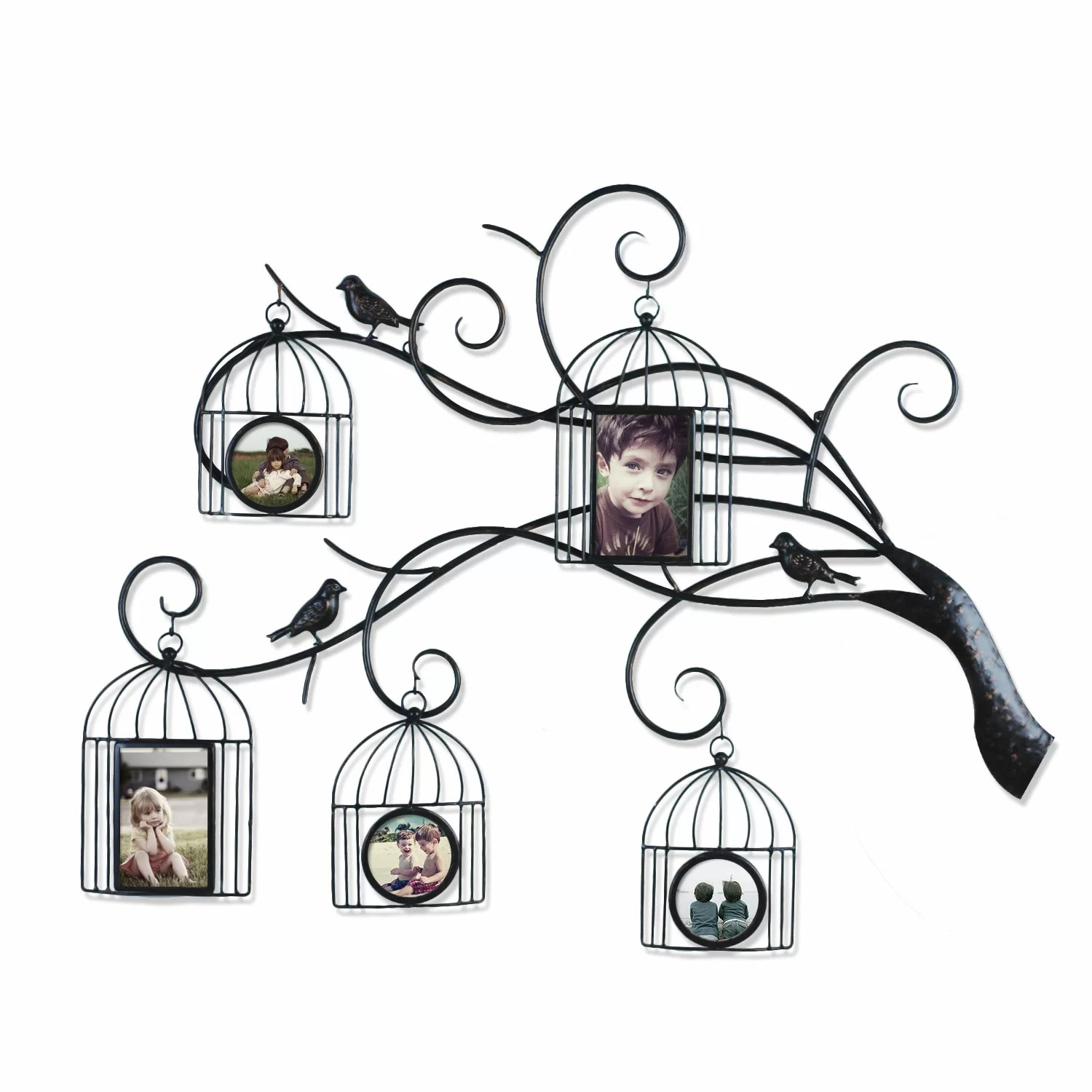 Adecotrading Collage Wall Hanging 5 Opening Family Tree