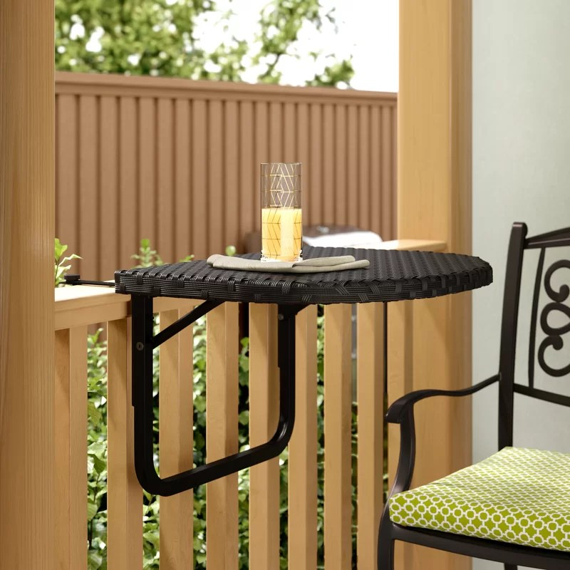 Cropsey Wicker/Rattan Balcony Table