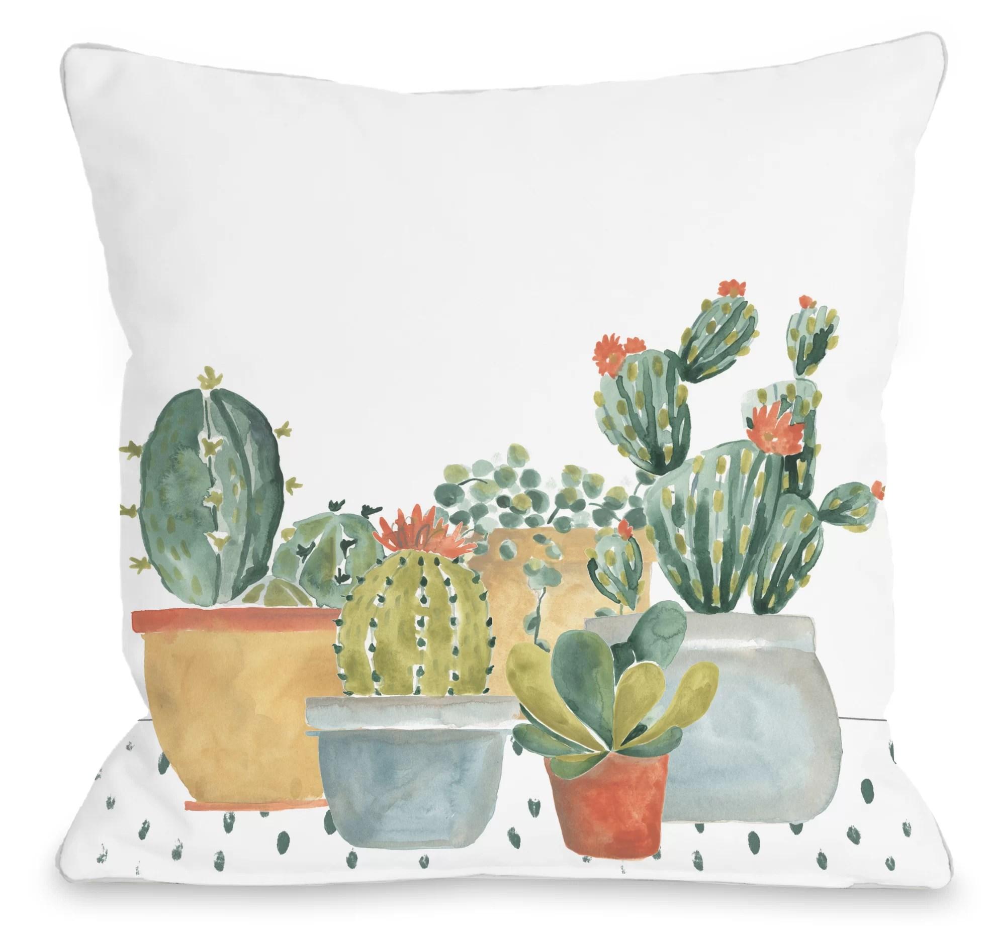 pryce cacti throw pillow