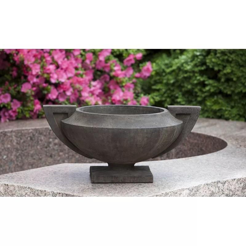 Smithsonian Cast Stone Urn Planter Color: Copper Bronze