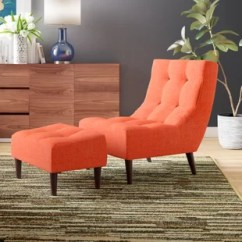 Tufted Chair And Ottoman Orange Metal Dining Chairs With Wayfair Quickview