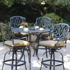 Bar Height Outdoor Chairs Folding Chair Kitchen Patio Sets Wayfair Lebanon 5 Piece Dining Set With Cushions