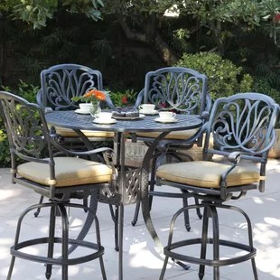 bar height table and chairs outdoor chiavari chair rental chicago patio sets wayfair lebanon 5 piece dining set with cushions